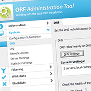 Renewed Administration Tool: DNS Settings