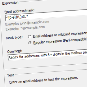 Building a special email address filter expression